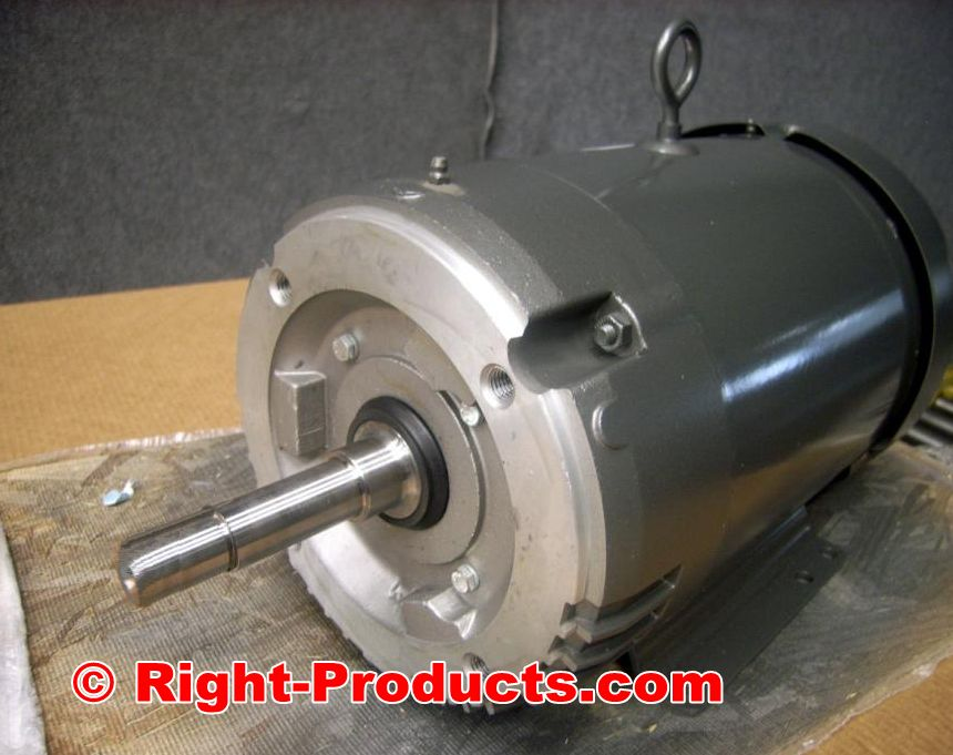 Baldor 10hp 3ph AC Motor Volts 208-230/460 Rpm 3450 26.5-24/12amp NEMA 215T Base-Mount
