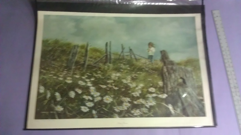 Artist: Carolyn Bullis Blish, Print Title: Picking Daisies