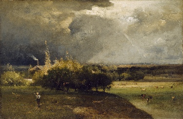 Artist: George Inness  (1825 - 1894) , Original Oil Title: The Coming Storm, ca. 1879
