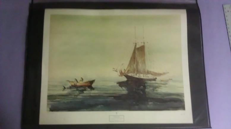 Artist: Paule Stetson Loring (1899 - 1968), Print Title: A Gloucester SwordFisherMan